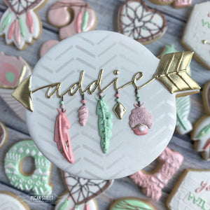 Boho Arrow Name Plaque Cookie Cutter