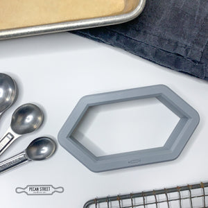 Hex Plaque Cookie Cutter