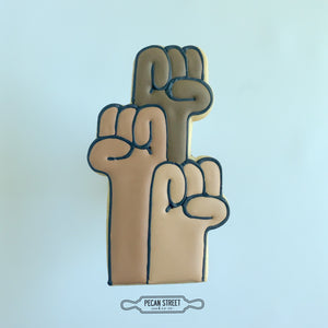 Solidarity Hands Cookie Cutter