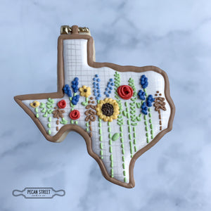 Texas Embroidery Hoop Cookie Cutter