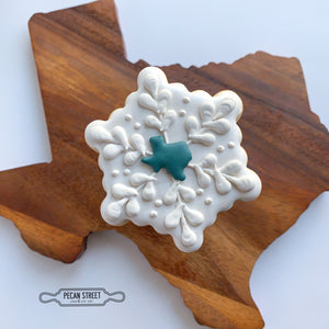 Texas Snowflake Cookie Cutter