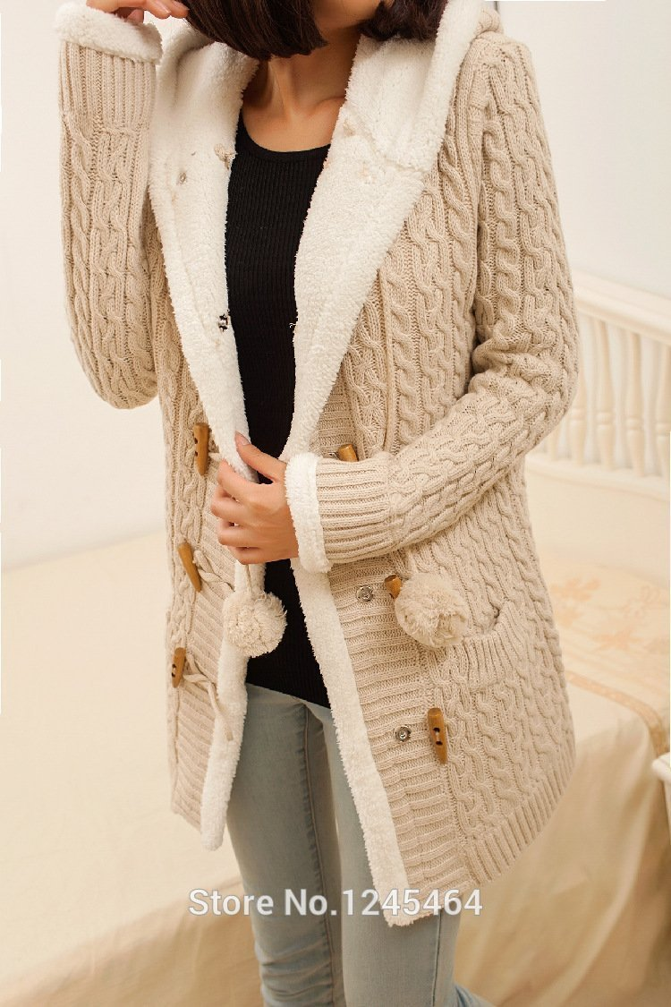 PLUS SIZE 2020 New Cashmere Thick Warm Hooded Coat