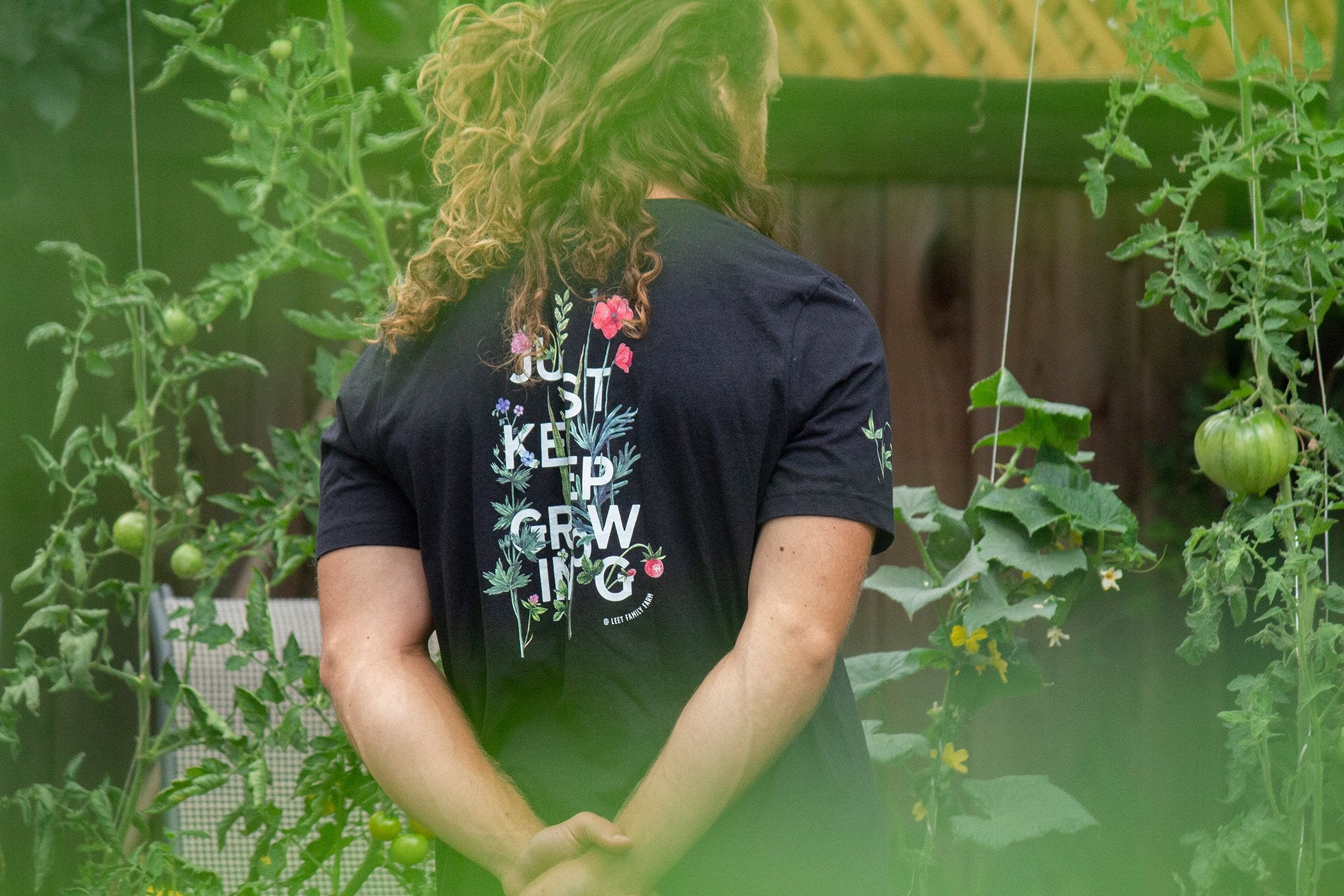 Just Keep Growing – Unisex T-Shirt – Front & Back