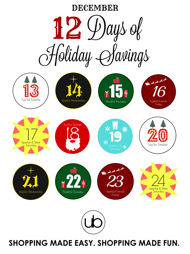 12 Days of Holiday Savings