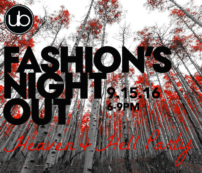 SAVE THE DATE 5th Annual Fashion's Night Out 9.15.16