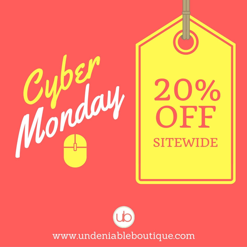 Cyber Monday 20% OFF Sitewide Sale!
