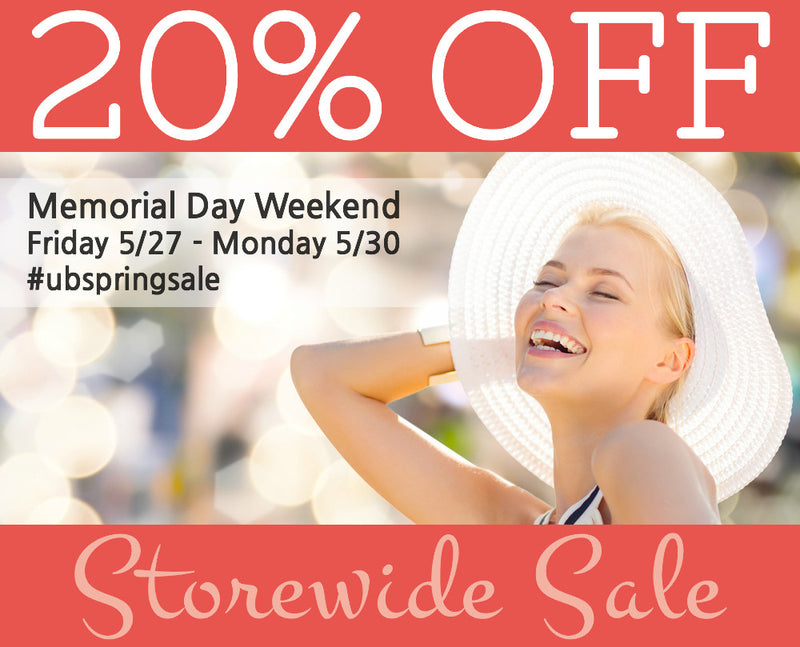 SAVE 20% STOREWIDE MEMORIAL DAY WEEKEND SALE 5/27-5/30
