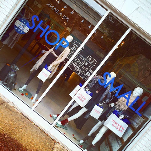 Undeniable Boutique Shop Small Window Displays Small Business Saturday