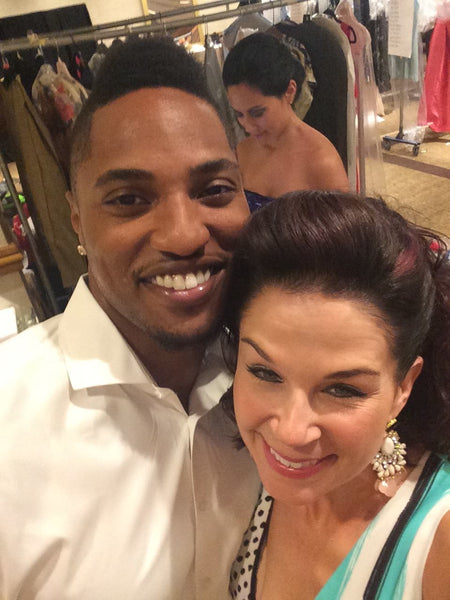 Alicia Russman of Undeniable Boutique with Washington Redskin Chris Culliver