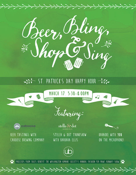 Undeniable Boutique Fairfax Virginia St. Patrick's Day Happy Hour