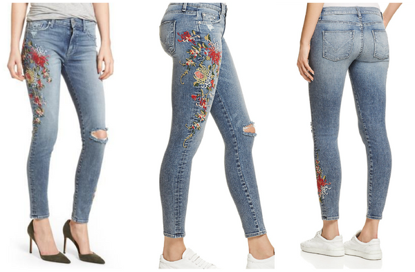 Hudson Embroidered Flora Jeans
