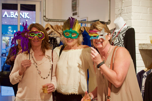 Undeniable Boutique Fashion's Night Out Guests in Masks