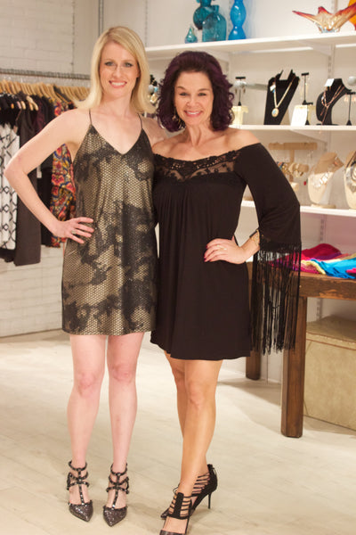 Undeniable Boutique Owner Alicia Russman and Guest Fashion's Night Out
