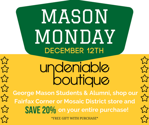 George Mason University Shopping Event Northern Virginia Boutique