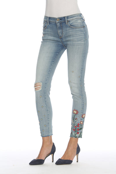 Floral Embroidered Jeans Summer Fashion Trends 2018