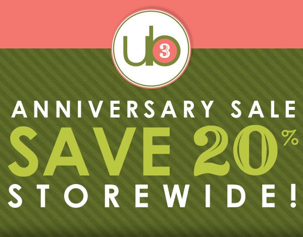 Anniversary Sale Save 20%