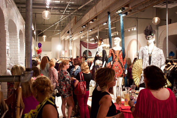Fashion's Night Out Crowd at Undeniable Boutique