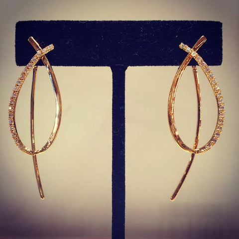 Gold Earrings Theia
