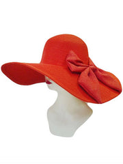 Red Floppy Sun Hat