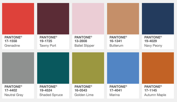 Pantone Fall 2017 Fashion Colors