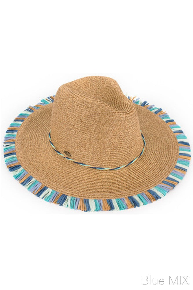 Fringe Trim Natural Sunhat