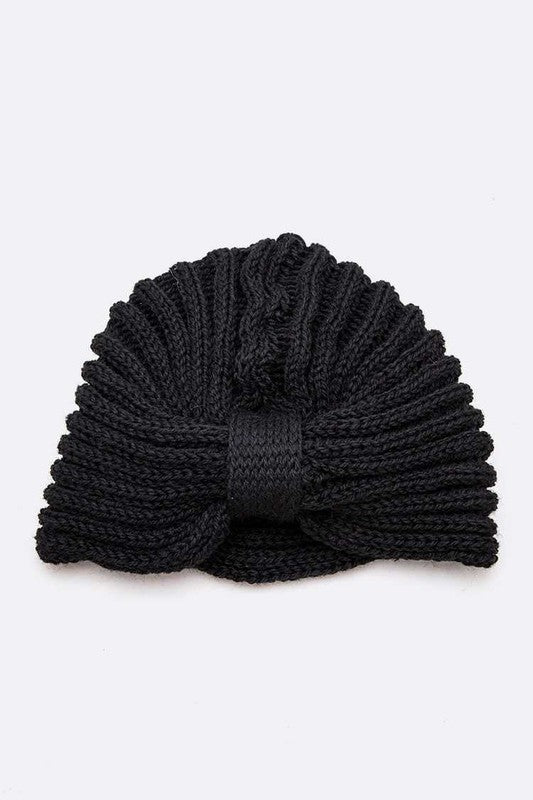 LAST CALL | Knit Turban Beanie in Black
