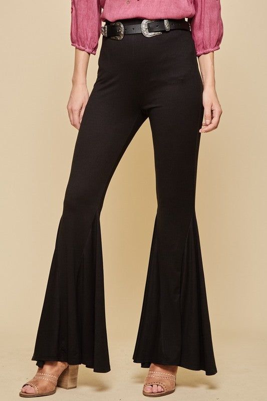 Black Bell Bottom Flare Legged Pants
