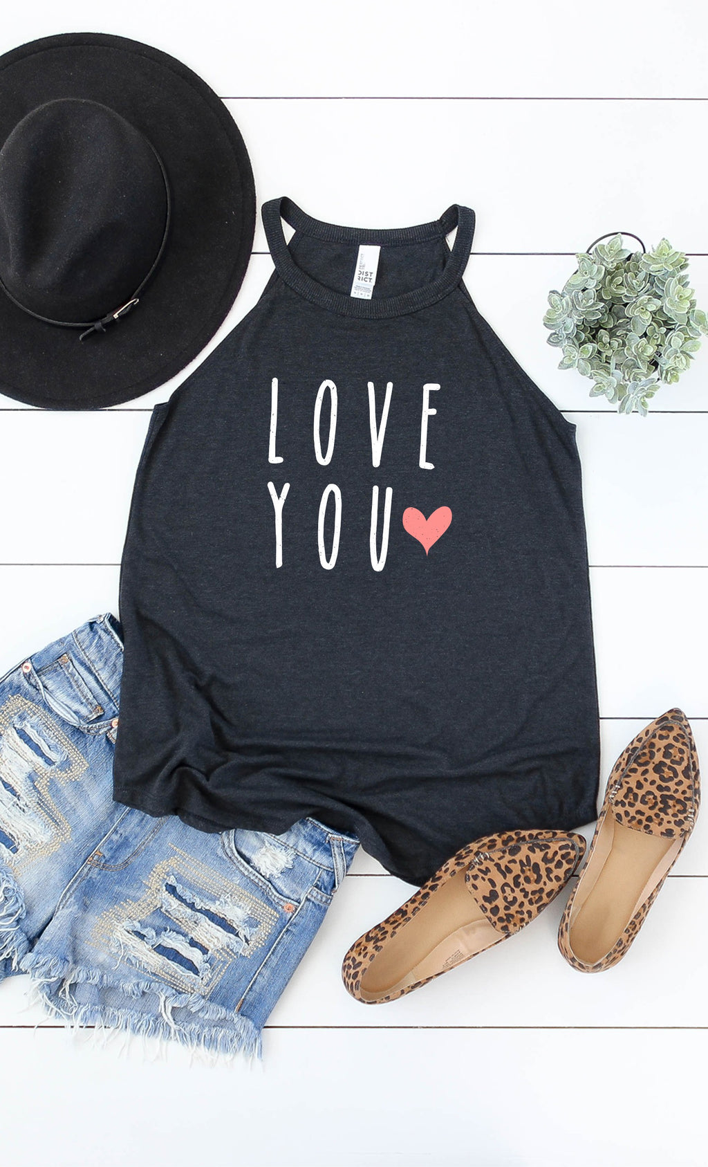 LAST CALL SIZE S | Love You Graphic Tank Top in Black