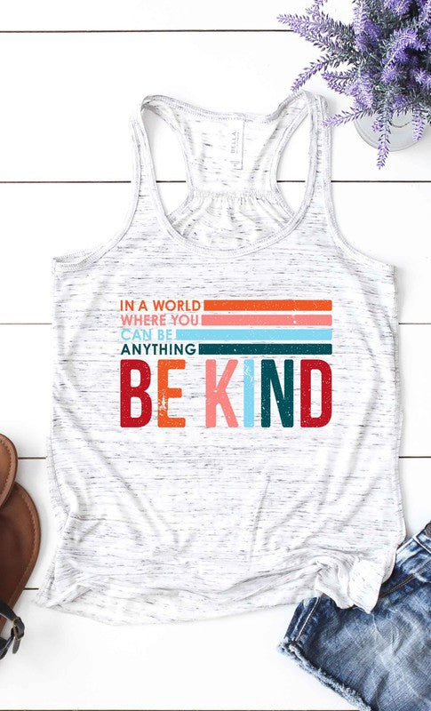 LAST CALL SIZE XL | Be Kind Retro Tank Top in Heather Grey