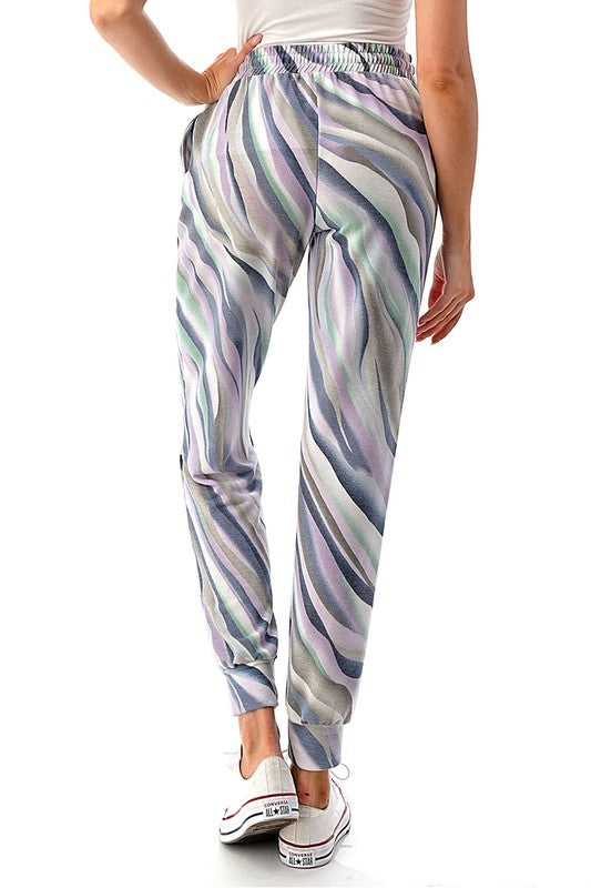 Exotic Watercolor Brush Jogger Pants