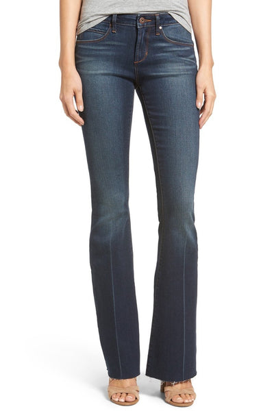 Articles Whiskered Flare Leg Jeans with Distressed Hem