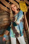 Long Sleeve Fleece Tie Dye Top