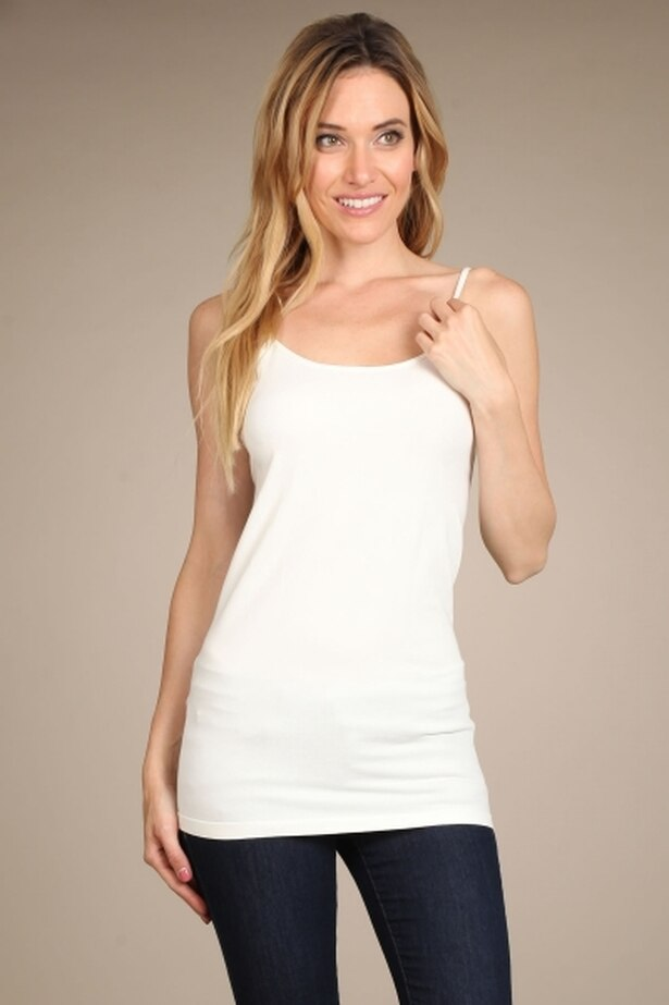Everyday Layering Cami Tank Top in Off White