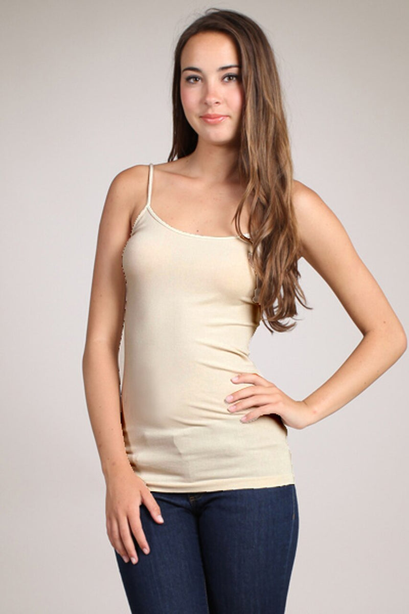 Everyday Layering Cami Tank Top in Latte