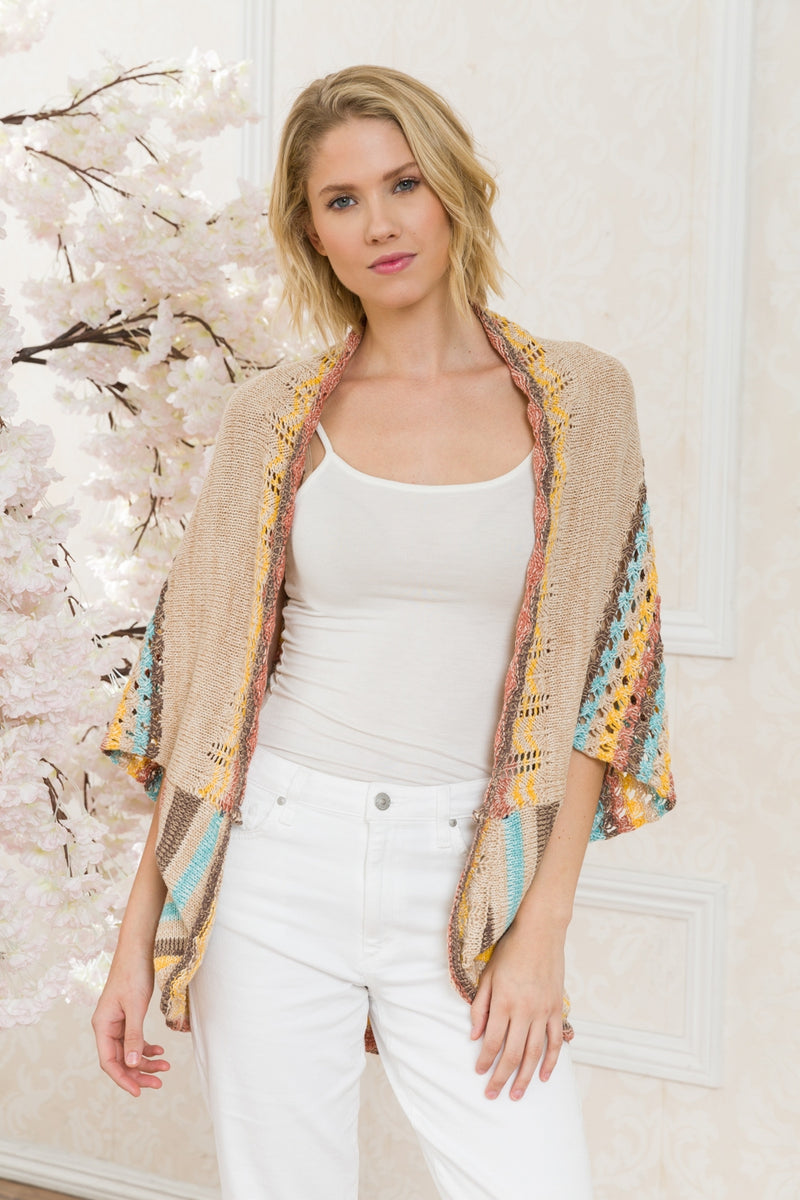Multicolor Shrug Cardigan