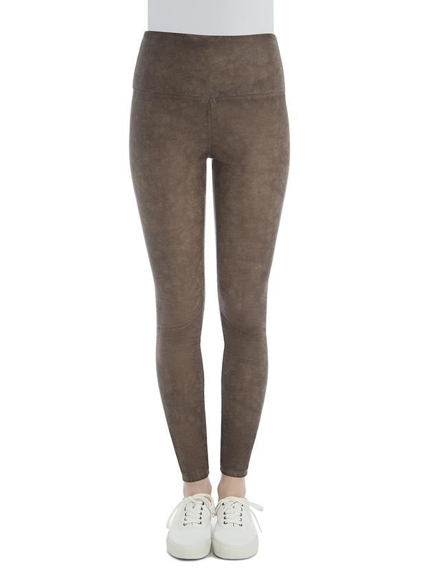 Vegan Leather Legging in Mocha