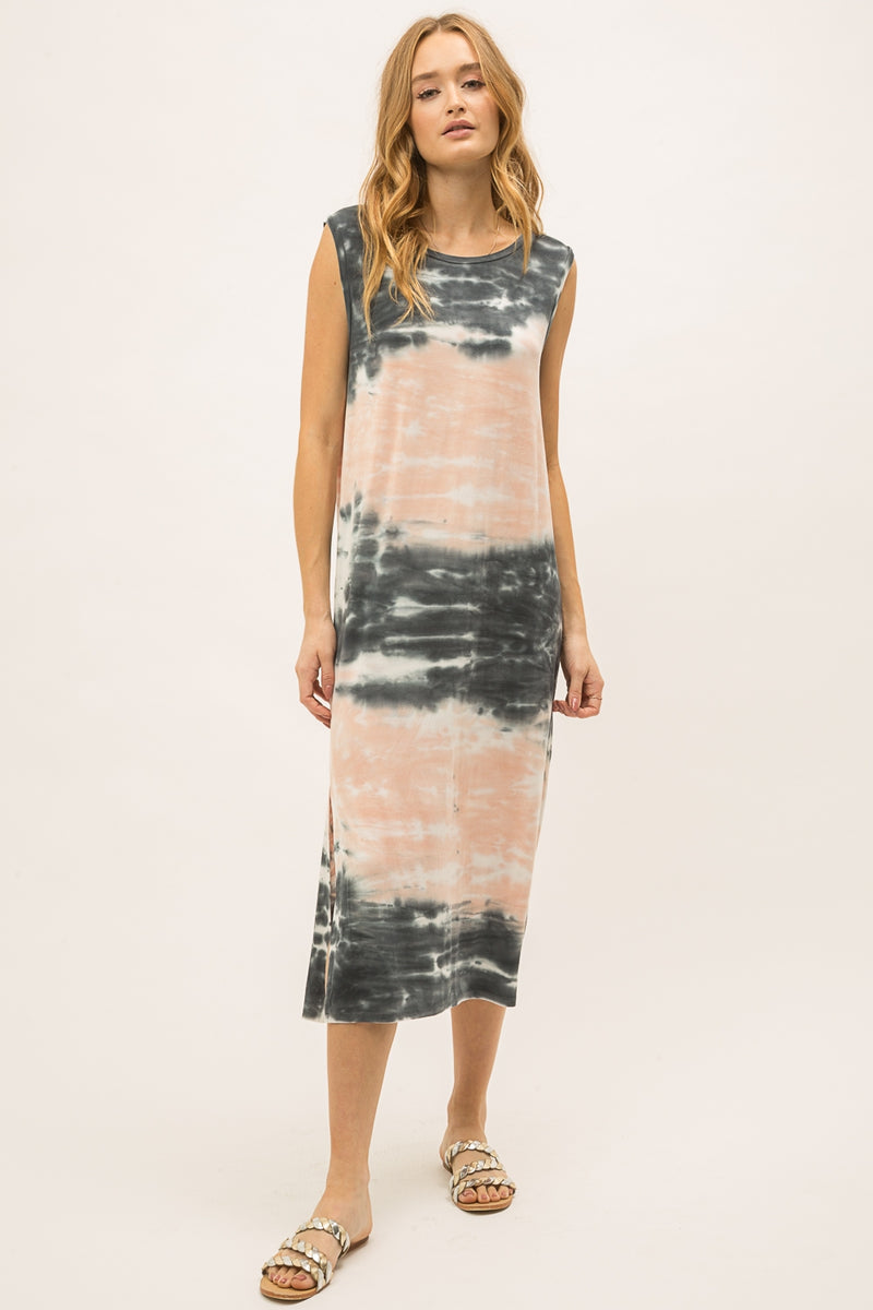 LAST CALL SIZE L | Sleeveless Tie Dye Midi Dress