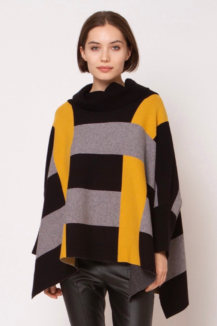 LAST CALL SIZE L | Color Block Oversized Sweater