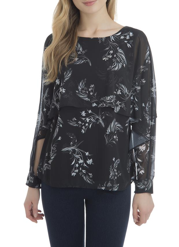 LAST CALL SIZE S | Cascade Long Sleeve Blouse Floral Print