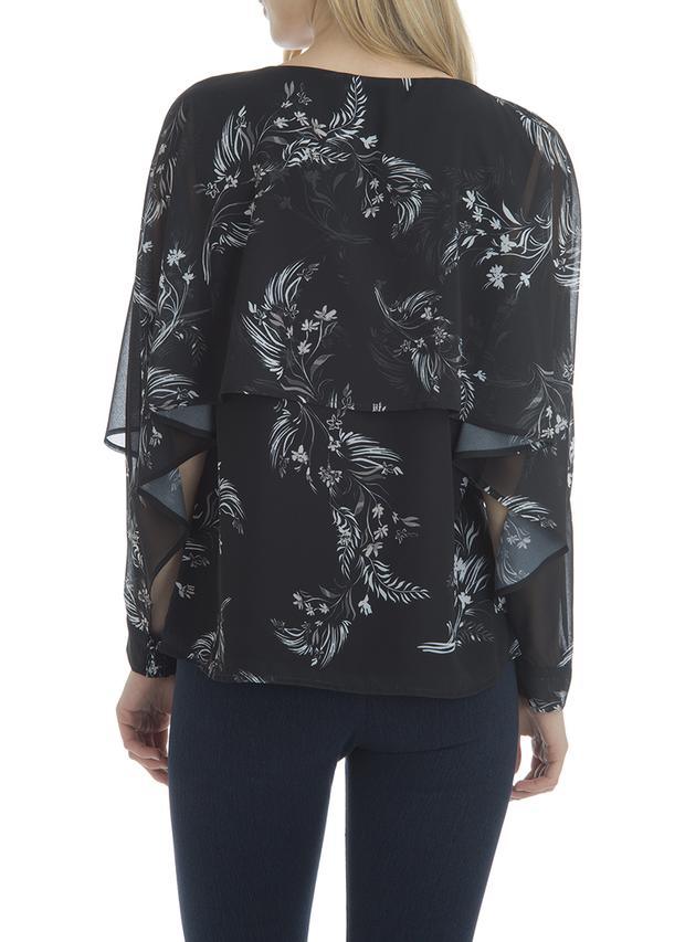 Cascade Long Sleeve Blouse Floral Print
