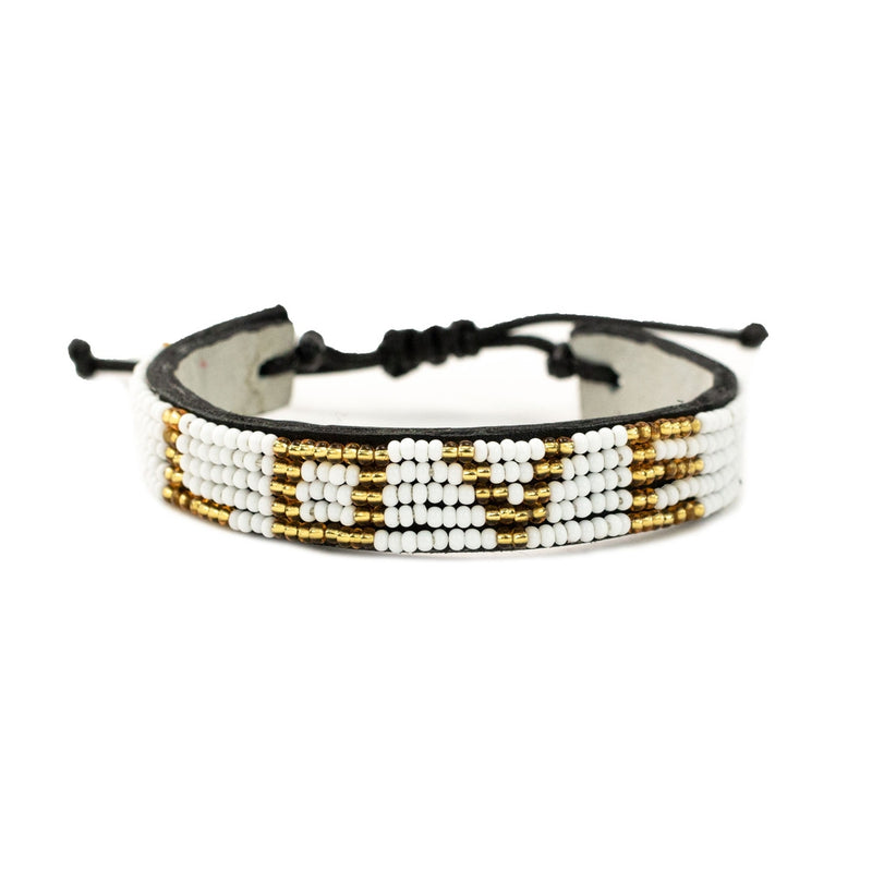 White and Gold Love Bracelet