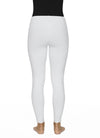 Contrast Cross Stitch Leggings in White Back