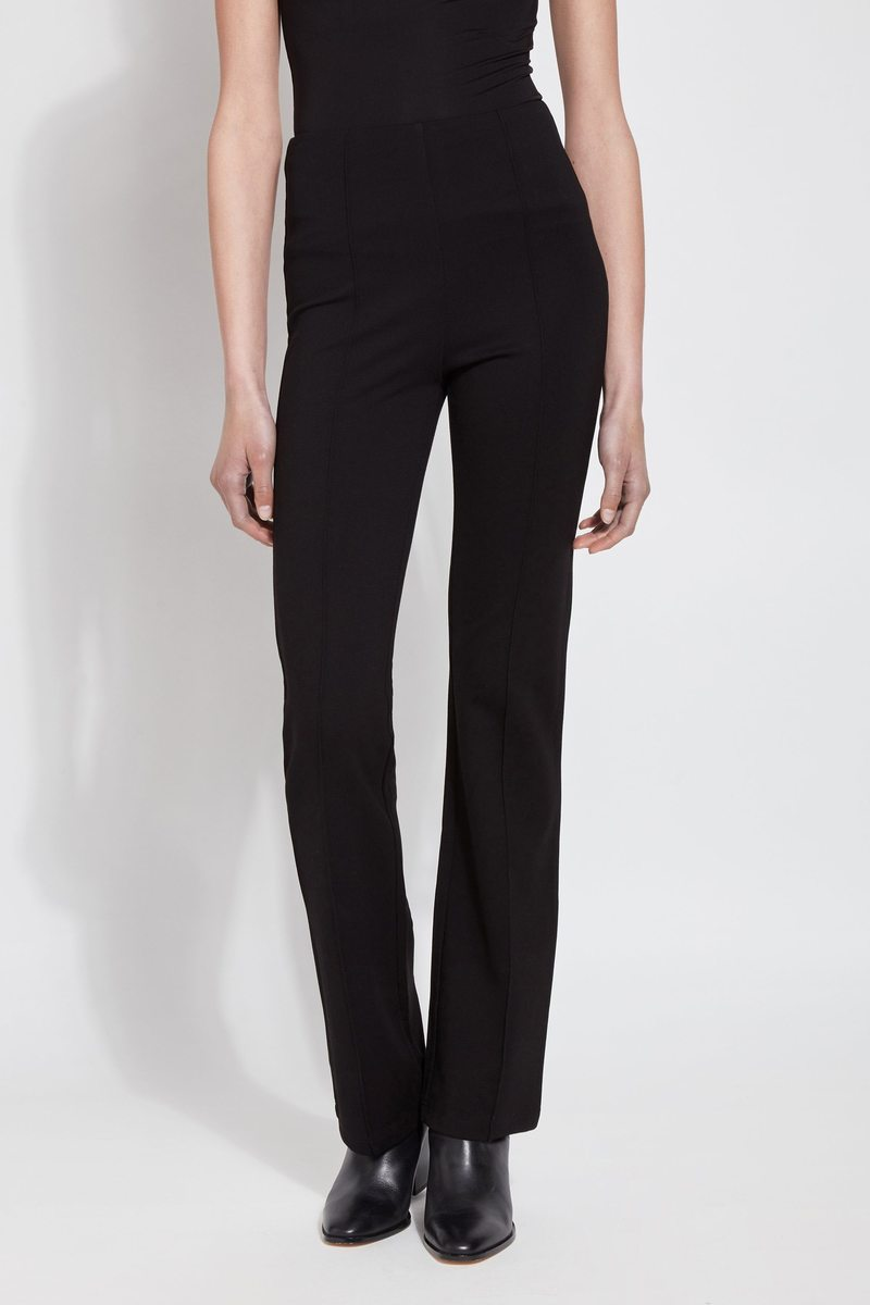 Black Flare Leg Dress Pants