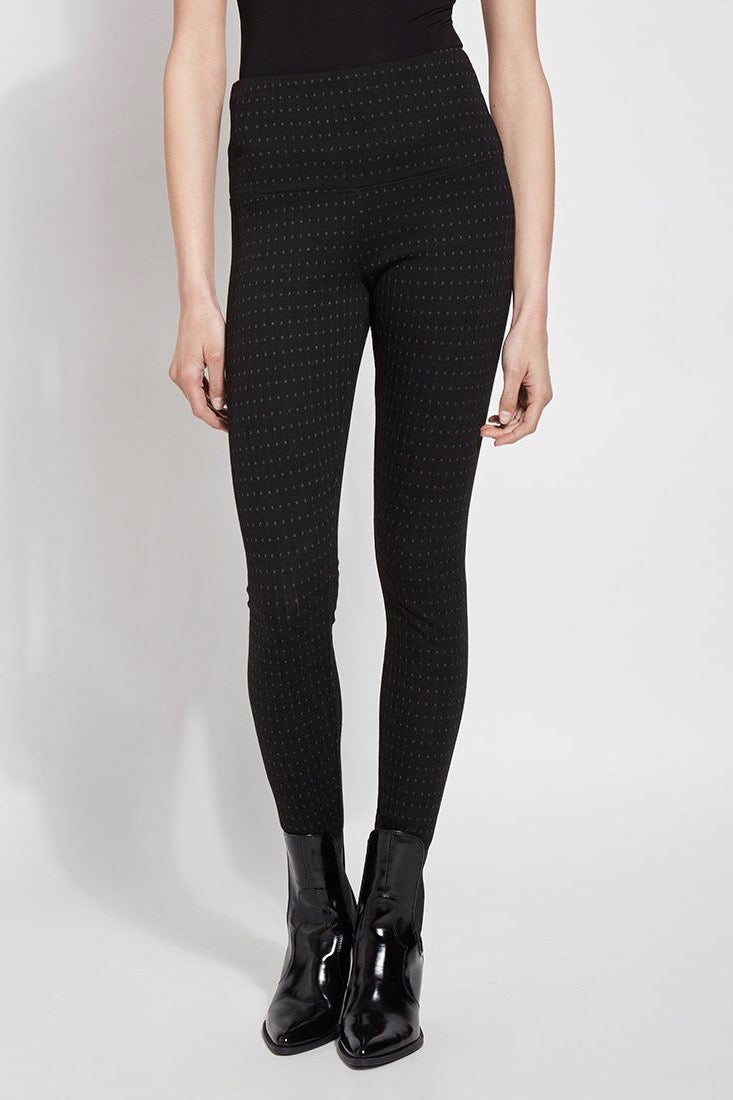 Geometric Jacquard Print Structured Leggings