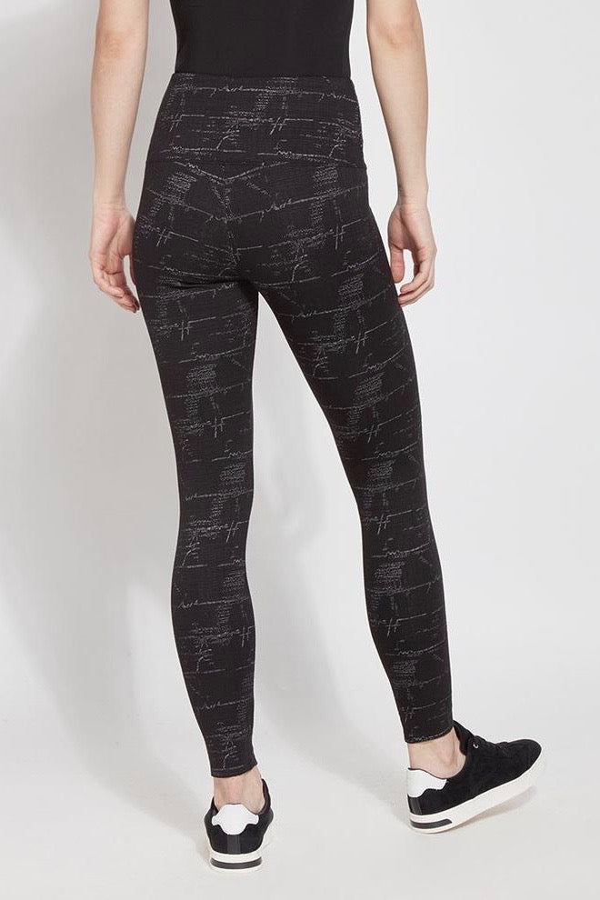 Etched Jacquard Print Structured Leggings