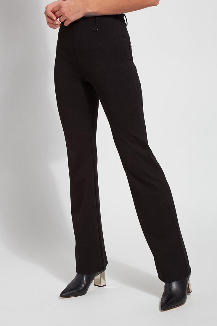 Baby Bootcut Pants in Black Ponte