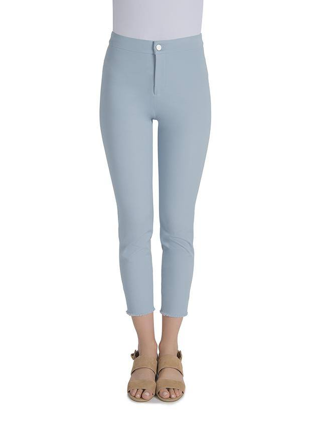 Raw Hem Cropped Pant in Blue