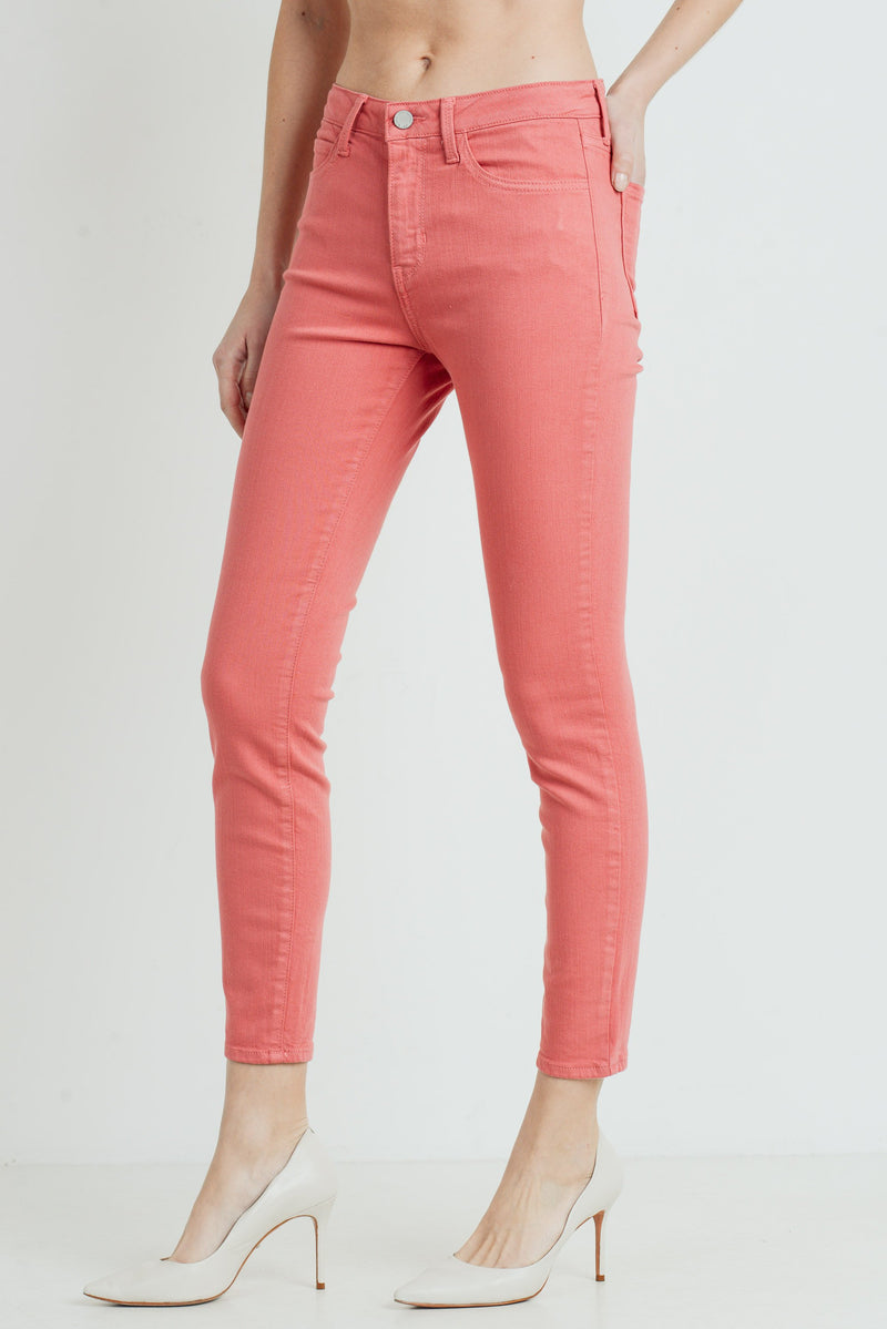 Classic Skinny Jeans in Strawberry Side
