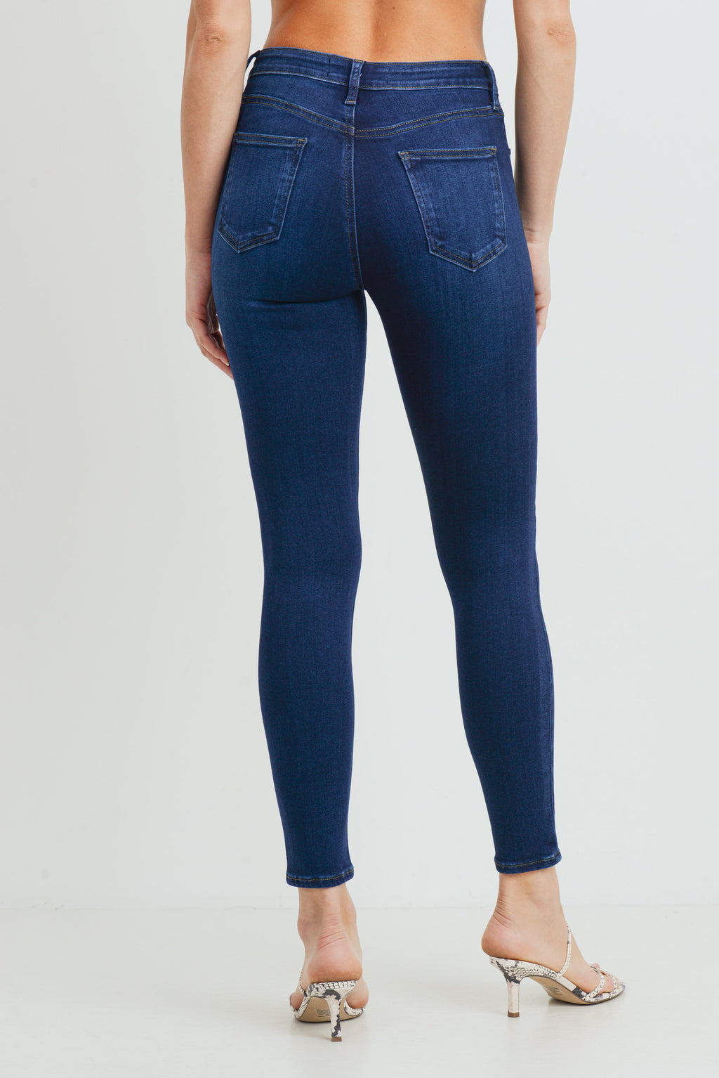 LAST CALL SIZE 26 | Classic Clean Dark Wash Skinny Jeans