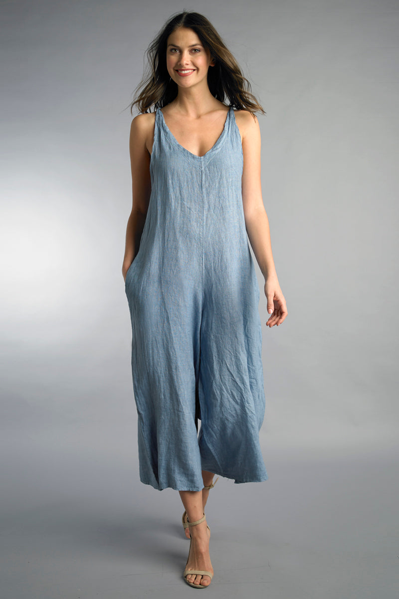 LAST CALL SIZE M | Denim Tie Back Jumpsuit